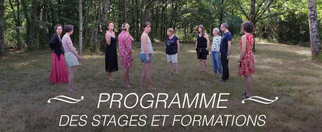 Programme des stages et formations